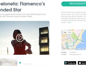 Carmen Amaya, Barceloneta Flamenco para la empresa Detour