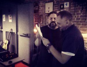 Lorca y Fran Brandón grabando en Casa Sonora